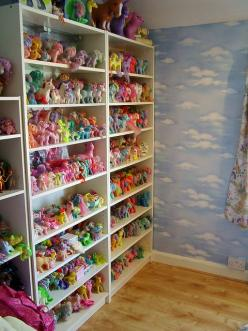 My Little Pony Collection - OMG the girls would love this! They have their collection but it's not this big!: Flickr, Pony Display, Mylittlepony, Pony Shelves, Ponies, My Little Pony Collection, Big, Board
