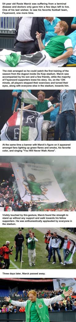 Never doubt, people have it in them to be the light of this world. To make a heaven right here, right now. What was done for this dying man, is one such example: Faithinhumanity, Inspiration, Life, Awesome, Feyenoord Fan, Faith In Humanity Restored, Faith