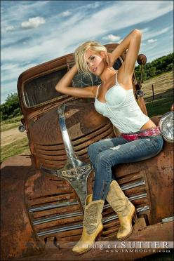 nice truck. But the girl, beyond words: Car, Trucks, Sexy, Country Girls, Cowgirl, Pinup