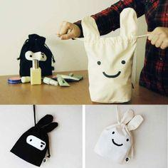 Ninja Rabbit Cloth Bag