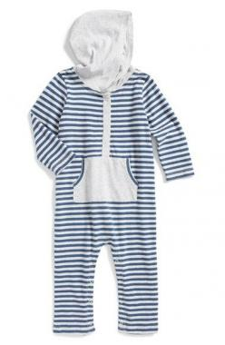 Nordstrom Baby Hooded Cotton Romper (Baby Boys) available at #Nordstrom: Infant Boys Fashion, Baby Boy Rompers, Baby Registry, Nordstrom Baby Boy, Baby Boys, Baby Lopahara