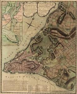 NYC- New York City (1775)-(Antique-Old Map) 8x10 Print-Reproduction: City 1775 Antique Old, 1775 Antique Old Map, City History, Cities, Old Maps, York Maps, New York City
