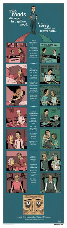 One of my favourite poets has his poem turned into a beautiful illustration by Zen Pencils.