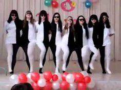 Optical illusion dance with black and white pants