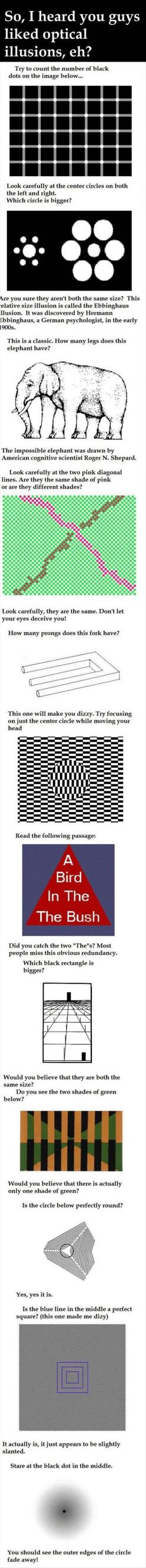 Optical illusions: Head Hurt, Optical Illusions These, Stuff, Crazy, Awesome, Elephant, Brain Hurt