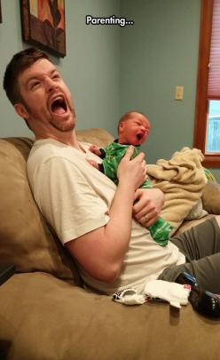 Parenting Is Not Easy: Funny Pics, Funny Pictures, Funny Stuff, Funnies, Baby, Photo, Parenting, Kid