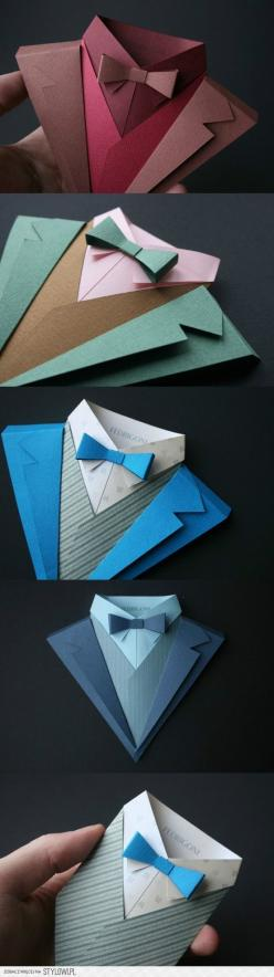 perhaps for father's day or dad's bday?: Paper Craft, Bowtie, Suit Card, Card Design, Fathers Day Card, Wedding Card, Dad Birthday Card, Man Card