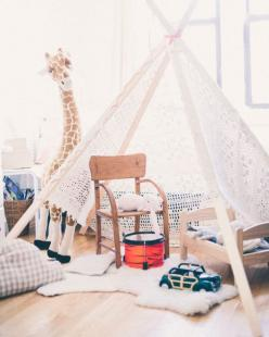 (Photos by Alpha Smoot for Cup of Jo. Styling by Kendra Smoot): Diy'S, For Kids, Kidsroom, Kids Tent, Teepees, Playroom, Diy Kids, Kids Rooms