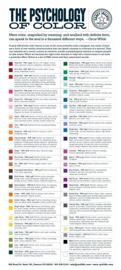 Pick the Right Color for Design or Decorating with This Color Psychology Chart: Color Meaning, Colour, Psychology Of Color, Color Psychology, Color Palette