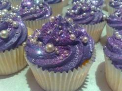 purple glittery cupcakes!: Purple Cupcakes, Pretty Cupcakes, Sweet, Wedding, Food, Cup Cake, Party Ideas, Dessert