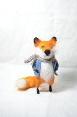 Red Foxy Needle felted ornament animal by feltingdreams on Etsy: Needle Felted Animals, Needle Felted Ornaments, Needle Felt Animal, Red Foxy, Foxes, Felted Wool Animals, Needle Felting