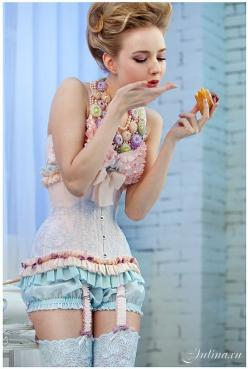 So absolutely cute, sexy and sophisticated without giving it all away..Love the colors!!: Pastel, Sexy, Fashion, Lingerie, Inspiration, Sweet, Style, Corsets, Marie Antoinette