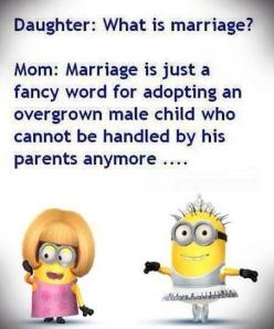 So true:): Funny Marriage Quotes, Minions Quotes, Funny Couple Quote, So True, Marriage Quotes Funny, Funny Minions, Minion Quotes Funny Hilarious, Funny Quotes Marriage