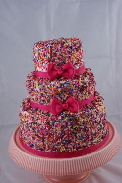 Sprinkle Cake! - friends if you're following me on pinterest this is what i'd like my birthday cake to look like... k thanks: Sweet, Girl Birthday, Sprinkles Cake, Wedding Cake, Party Ideas, Sprinkles Birthday, Birthday Cakes