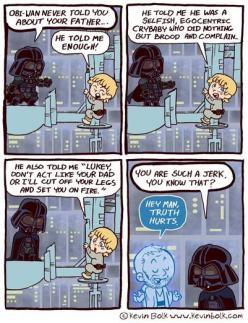 Star Wars cartoon : ObiWan is a jerk :D: Geek, Truth Hurts, Obi Wan, Stuff, Stars, Funny, Star Wars, Truths, Starwars