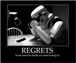 Stormtrooper Regrets Those WERE The Droids You Were Looking For Custom T Shirt STAR WARS: Star Wars, Funny Stuff, Stormtrooper, Humor, Regret, Starwars