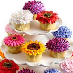 Sunflower cupcake: Decorating Idea, Sunflowercupcakes, Sunflowers, Recipes, Cup Cake, Cupcake Idea, Sunflower Cupcakes