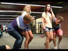 Sweeping girls off their feet. This is funny and cute. I would be one of those awkward girls thinking they were up to no good. This is at Uvu hahaha