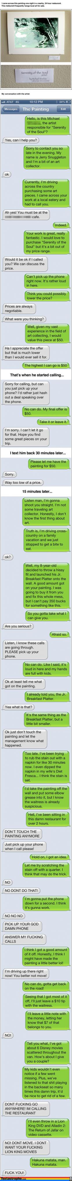 The 9 Most Epic Texting Pranks Of All Time. The 3rd One Killed Me…LOL! | Distractify: Funny Texts, Giggle, Text Prank, Funny Stuff, Public Place, So Funny, Painting