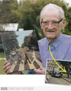 The man photobombed the most iconic picture ever, before photobombing was cool :P: The Beatles, Photos, Funny, Album Cover, Greatest Photobomb, Things, Abbey Road