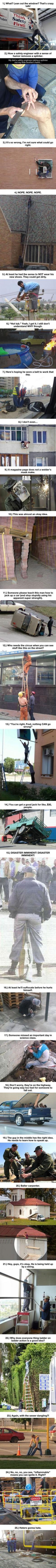These 25 People Are About To Feel Serious Pain. But They Sorta Have It Coming, LOL.: Funny Things, Funny Accidents, Safety Fails, Humor, 25 People, Safety First, Pinterest Fail, Stupid People