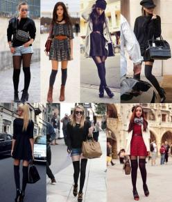 thigh/knee high socks!! This is my winter accessories for this year :D: High Knee Socks, Knee High Sock Outfit, Knee High Socks Winter, Knee High Socks Outfit Winter, Knee Socks Outfits, Fashion Blog, Outfits With Knee High Socks, Knee Highs, High Socks O