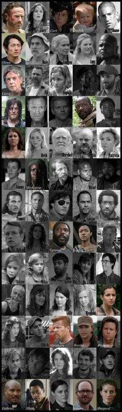 This is cool. Those still living are in color. Those who died are in black & white.: Updated Dead Alive, Thewalkingdead Season5, Walking Dead Daryl, Walking Dead Survivors, The Walking Dead Season 5, The Walking Dead Beth, Twd, The Walking Dead Poster