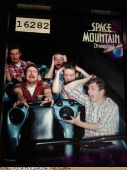 This is happening on every roller coaster ride from now on.  It will never stop being funny.: Spaces, Rollercoaster, Space Mountain, Funny Stuff, Funnies, Disney, Photo