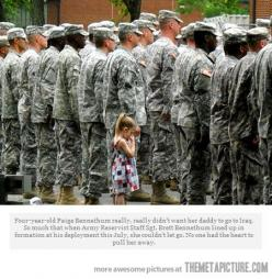 This made me cry: Army, Little Girls, Hero, Heart, Daddy, Military
