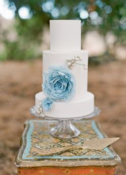 twine events and oak and the owl florals - home - lane dittoe fine art wedding photography: White Wedding, Wedding Ideas, Cake Design, Weddings, Cake Ideas, Wedding Cakes, Blue Flower, Blue Wedding