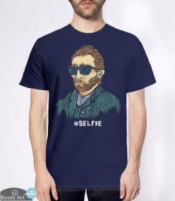 """""""Van Gogh: Master of the Selfie"""" Funny T-Shirt   Men's, Women's, and Kid's Sizes from Boots Tees.: Van Gogh Art, Awesome Shirts, Buy, Funnies, Kids, Space, T Shirts, Products, Boots Tees"""