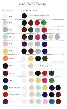 Warbdrobe Color Guide