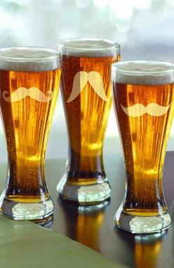 We want to drink out of these fun #Mustache #Pilsner Glasses (Set of 4) after a day out paddling | Nordstrom: Groomsman Gift, Groomsmen Gifts, Gentleman S Mustache, Pilsners Set, Gift Ideas, Wedding, Pilsner Glasses, Mustache Pilsners