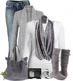 """""""Simple and Cute"""" by cindycook10 on Polyvore: Fashion, Style, Dream Closet, Grey Outfit, Infinity Scarf, Winter Outfit, Casual Holiday Outfit, Fall Outfit, Fall Winter"""