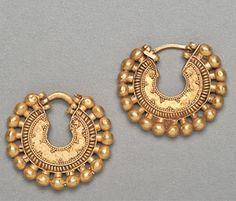 Achaemenid Gold Earring Hoops (500 BC - 400 BC)