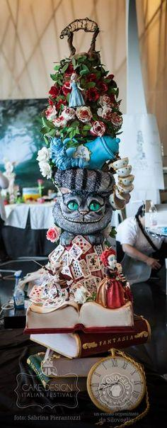 Alice in Wonderland Cake. It's hard to believe that is cake.   To be honest, this movie used to scare me as a kid, but now I can't help but love it.