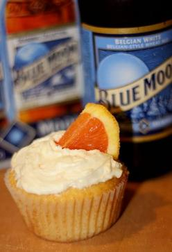 Baking With Beer: Blue Moon Cupcakes (with recipe): Bc Cupcakes, Baking Beer, Cupcakes Sweets, Beer Cupcakes Recipe, Cakes Cupcakes Cookies, Food, Baking With Beer, Blue Moon Cupcake Recipe, Blue Moon Cupcakes
