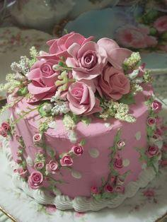 beautiful pink cake