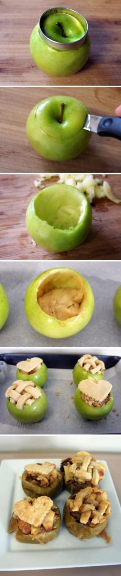 Cake Baked in Fresh Apples #vege food and recips #pszenic: Apple Recipes, Fruit, Apple Pie, Desert, Cakes, Food, Fresh Apples