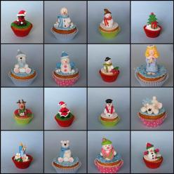 Christmas cupcakes by bubolinkata, via Flickr: Cupcakes Bubolinkata, Christmas Cupcakes Toppers, Christmas Winter Cupcakes, Christmas Cakes, Christmas Themed Cupcakes, Decorated Cupcakes, Dei Cupcakes
