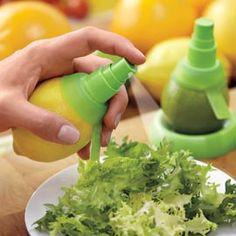Citrus Misters turns lemons, limes and oranges into the spray bottle.