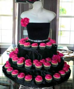 Couture cupcake stand great for a jewelry show! Or fashion show! Draw them in with cupcakes, no one else will have and close the deal on a sale of your products!!!: Birthday, Sweet 16, Cupcake Stands, Cupcakes, Wedding, Dress, Cup Cake, Bridal Shower, Par