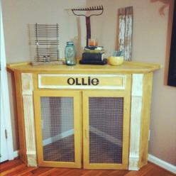 dog crate perfect for our new house dining room/kitchen corner: Diy Dog Bed, Dog Crate Bed, Diy Dog Crate, Dog Crates, Creative Dog Bed, Diy Dog House, Diy Dog Kennel