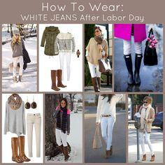 Don't Pack Those White Jeans Away! Here's how to wear white jeans after labor day and beyond.