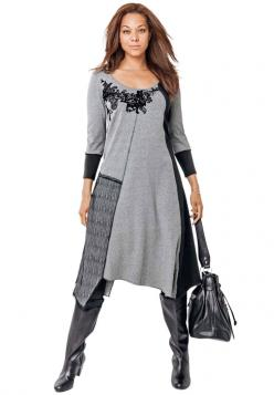 Edgy and different......Asymmetrical Hem Dress by Taillissime | Plus Size Casual Dresses | OneStopPlus: Jessica London, Fashion, Style, Plus Size, Size Asymmetrical, Casual Dresses, Size Casual