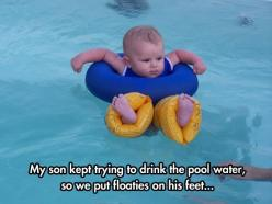 Feet floaties  // funny pictures - funny photos - funny images - funny pics - funny quotes - #lol #humor #funnypictures: Giggle, Funny Pictures, Funny Stuff, Funnies, Baby, So Funny, Kid