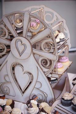 FOOD and DECORATIONS: Cupcake Holder  Ferris Wheel holds 16 cupcakes by CleverlyBuilt, $289.00. I NEED this. I need this I need this I need hstis  in eed this tineed this: Wheel Decorations, Cupcake Holders, Cupcake Ferris Wheel, Carnival, Ferris Wheel Cu