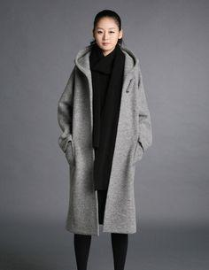 Grey wool hoodie coatmore colour and size choiceO10 by thesimpson, $99.00