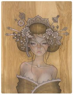 Hair: Audreykawasaki, Inspiration, Illustrations, Tattoos, Audrey Kawasaki, Artist, Painting, Drawing