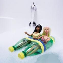 How fun is this! Love it!!: Plastic Bottle, Ideas, Girl, Boats, Kids, Diy, Barbie Boat, Crafts
